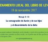 ENTRENAMIENTO LOCAL DEL LIBRO DE LEVÍTICO - 29 de julio 2017